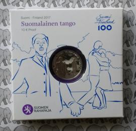 """Finland 10 euromunt 2017 """"Tango"""""""