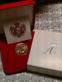 """Monaco 2 euromunt CC 2011 """"Huwelijk"""", BU in doosje met certificaat X"""