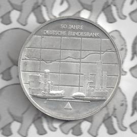 """Duitsland 10 euromunt 2007 (32e) """"50 Jaar Duitse Federale bank"""" (zilver)."""