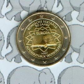 """Duitsland 2 euromunt CC 2007 """"Verdrag van Rome"""""""