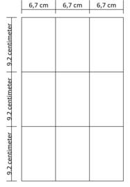 Lukos 9 vakken (voor iedere 4 ringsklapper)