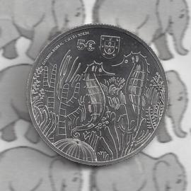 "Portugal 5 euromunt 2021 (36e) ""Het zeepaardje"""