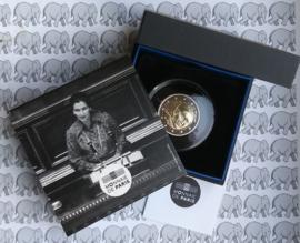 """Frankrijk 2 euromunt CC 2018 """"Simone Veil"""", proof in doosje met certificaat"""