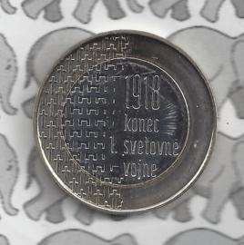 """Slovenië 3 euromunt 2018 """"100 jaar einde van Wereld oorlog 1"""""""