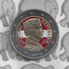 Letland 2 euromunt CC 2014 standaard (kleur)