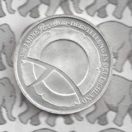 """Duitsland 10 euromunt 2010 (47e) """"300 Jahre Porzellanherstellung"""" (nikkel)."""