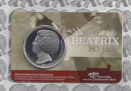 "Nederland coincard 2018 ""Prinses Beatrix 80 jaar"" (penning)"