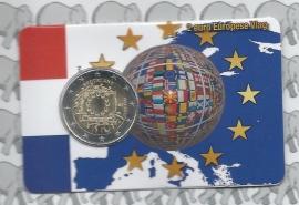 """Nederland 2 euromunt CC 2015 """"30 jaar Europese vlag"""" in coincard."""