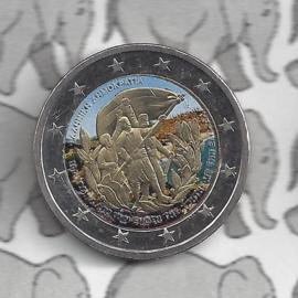 """Griekenland 2 euromunt CC 2013 """"Kreta 100 jaar bij Griekenland"""" (kleur 2 x)"""