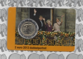 "Nederland 2 euromunt CC 2013 ""Troonswisseling"" (in Coincard, 2e versie)"