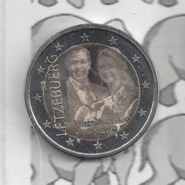 """Luxemburg 2 euromunt CC 2020 (28e) """"Geboorte van Erfprins Karel"""" in foto variant"""