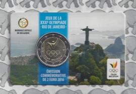 "België 2 euromunt CC 2016 ""Olympische Spelen in Rio de Janeiro"" in coincard Franse versie"