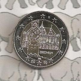 """Duitsland 2 euromunt CC 2010 """"Bremen"""""""