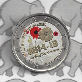 "België 2 euromunt CC 2014 ""St.Michaelis Hamburg"" (kleur 2)"