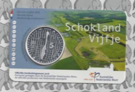 "Nederland 5 euromunt 2018 ""Schokland vijfje"" (in coincard)"