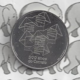 """Portugal 5 euromunt 2020 (34e) """"500 jaar Portugese post"""""""