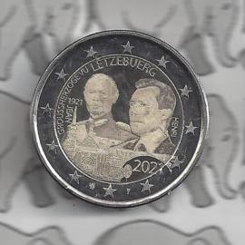 """Luxemburg 2 euromunt CC 2021 (29e) """"100e Geboortedag van Groothertog Jean"""" in foto variant"""