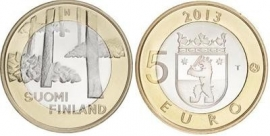 "Finland 5 euromunt 2013 (23e) ""Satakunta, graven"""