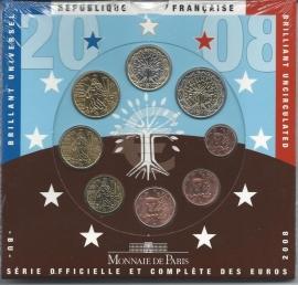 Frankrijk BU set 2008