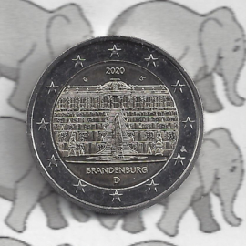 "Duitsland 2 euromunt CC 2020 ""Slot Sanssouci, (Brandenburg)"" (letter J)"