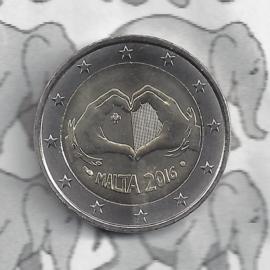 "Malta 2 euromunt CC 2016 ""Liefde"", met muntteken Monnaie de Paris."