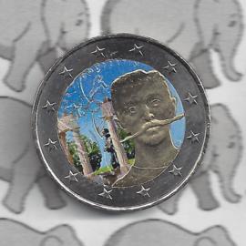 """Frankrijk 2 euromunt CC 2013 """"Pierre de Coubertin"""" (kleur x)"""