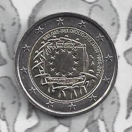 """België 2 euromunt CC 2015 """"30 jaar Europese vlag"""""""