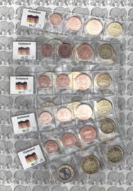 Duitsland 5 x UNC serie 2018 (zonder de 2 euromunten), letters A, D, F, G en J