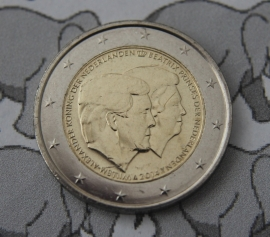 "Nederland 2 euromunt CC 2014 ""Koningsdubbelportret"""