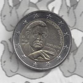 """Duitsland 2 euromunt CC 2018 """"100ste verjaardag van Helmut Schmidt"""" (letter A)"""