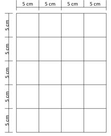 Lukos munthouder blad  (20 vaks, voor iedere 4 ringsklapper)