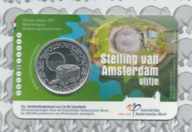 "Nederland 5 euromunt 2017 ""Stelling van Amsterdam vijfje"" (BU, met nummer in coincard)"