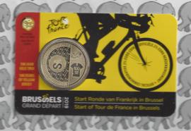 """België 2,5 euromunt 2019 """"Grand Départ Brussel"""" (Tour de France) in coincard Nederlandse versie"""