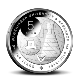 "Nederland 5 euromunt 2018 (40e) ""Wageningen Universiteit vijfje"" (los)"