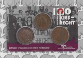 """Nederland 2019 """"100 jaar vrouwenkiesrecht in Nederland"""" (in coincard)"""