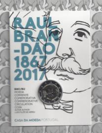 "Portugal 2 euromunt CC 2017 ""150e verjaardag van Raoul Brandão"" BU in blister"