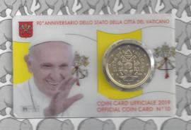 Vaticaan 50 eurocent 2019 in coincard, nummer 10