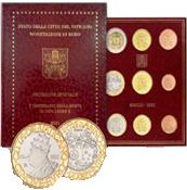"""Vaticaan BU set 2020 met 5 euromunt """"500 jaar na de dood van Paus Leo X"""""""