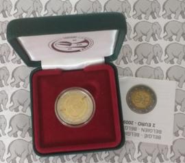 "België 2 euromunt CC 2009 ""EMU"" proof in doosje"