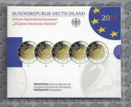 "Duitsland 2 euromunt CC 2015 ""25 jaar Duitse Eenheid"" (5 letters) proof"