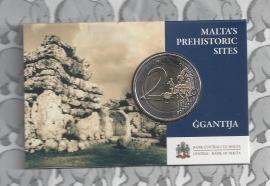 "Malta 2 euromunt CC 2016 ""Megalithische tempels van Ggantija"", met muntteken Monnaie de Paris in coincard."