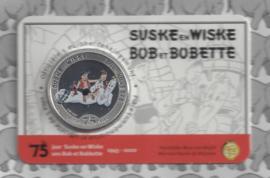 """België 5 euromunt 2020 """"75 jaar Suske en Wiske"""" (kleur), in coincard"""