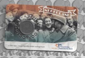 "Nederland 2020 ""75 Jaar bevrijding"" (1 cent zink, in coincard)"