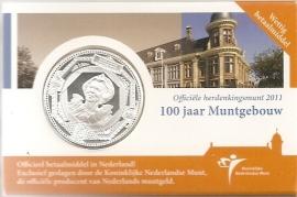 """Nederland 5 euromunt 2011 (18e) """"100 jaar Muntgebouw"""" (in coincard)"""