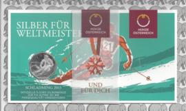 "Oostenrijk 5 euromunt 2013 (22e) ""Schladming 2013"" (zilver in blister)"