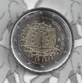 """Spanje 2 euromunt CC 2015 (12e)""""30 jaar Europese vlag"""""""
