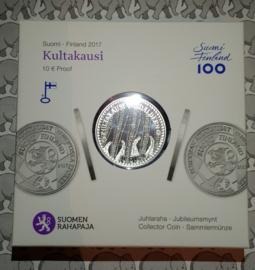 """Finland 10 euromunt 2017 """"de gouden jaren"""""""