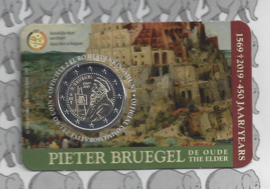 "België 2 euromunt CC 2019 ""450 jaar Bruegel"" in coincard Nederlandse versie"