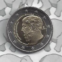 """Griekenland 2 euromunt CC 2013 (7e)""""2.400 jaar sinds de oprichting van Akademeia door Plato"""""""