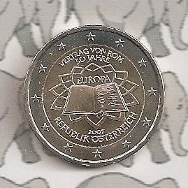 """Oostenrijk 2 euromunt CC 2007 (2e)""""Verdrag van Rome"""""""